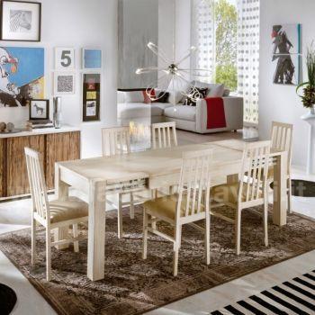 Tavolo allungabile in legno massello 140/220x90 - 160/240x90