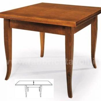 Produzione e vendita tavoli quadrati for Tavolo quadrato 80x80 allungabile