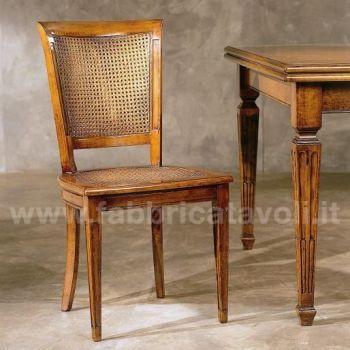 Sedia con seduta paglia di vienna oppure seduta imbottita for Sedie acciaio e paglia di vienna