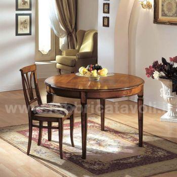 Produzione e vendita tavoli rotondi classici for Tavoli classici allungabili